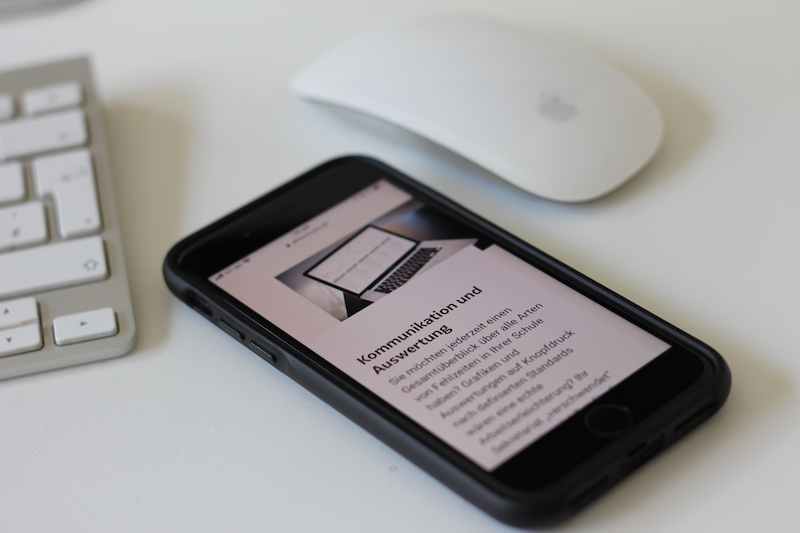 Beispiel Webdesign und Homepage Erstellung für Softwareunternehmen