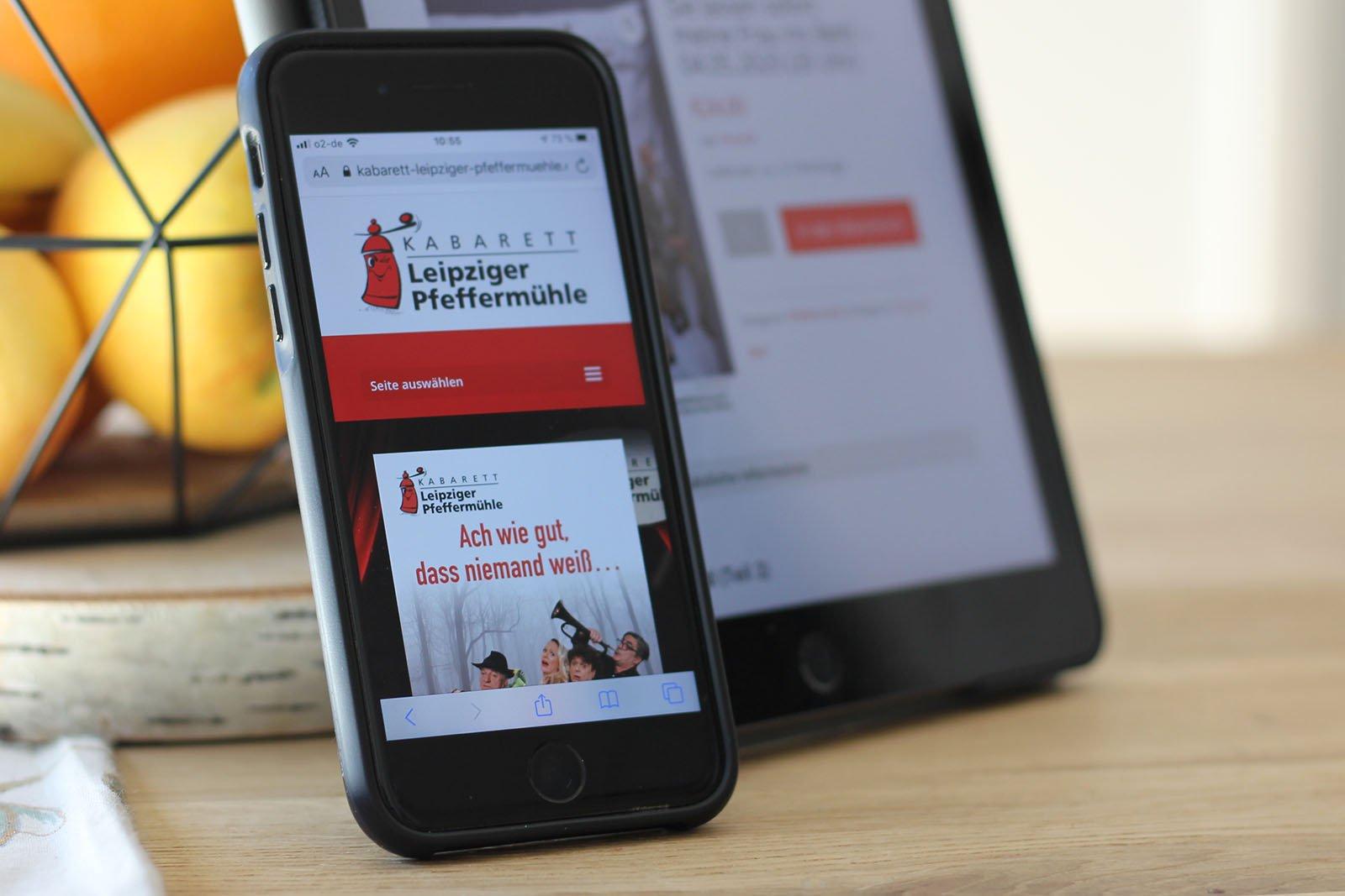 Beispiel Beispiel Webdesign und Ticket-Shop Erstellung für Kabarett und Ticket-Shop Erstellung für Kabarett