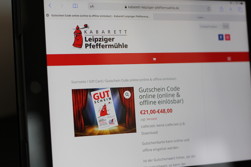 Beispiel Webdesign und Ticket-Shop Erstellung für Kabarett
